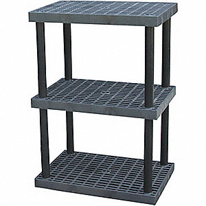 SHELVING BULK PLASTIC 3 SHELF 36X24