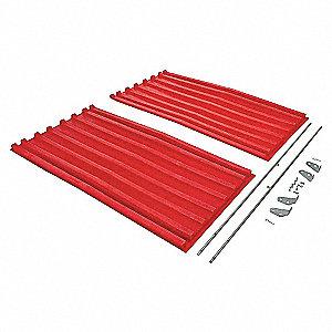 Hopper Lid,Red,Fits 67-1/2 cu. ft.