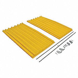 Hopper Lid,Yellow,Fits 67-1/2 cu. ft.