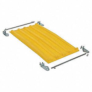 Hopper Lid,Yellow,Fits 9 cu. ft.