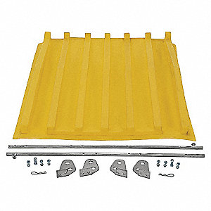 Hopper Lid,Yellow,Fits 13-1/2 cu. ft.