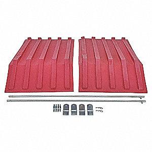 Hopper Lid,Red,Fits 27 cu. ft.