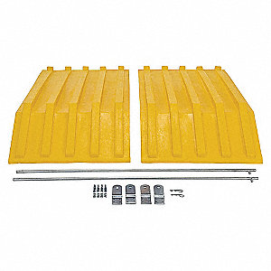 Hopper Lid,Yellow,Fits 27 cu. ft.
