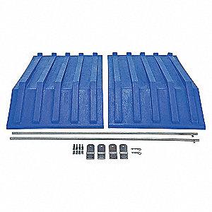 Hopper Lid,Blue,Fits 40-1/2 cu. ft.