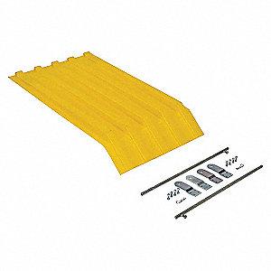 Hopper Lid,Yellow,Fits 7-1/2 cu. ft.