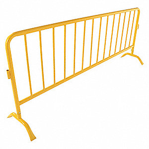 BARRIER CROWD HD YELLOW CURVED FEET
