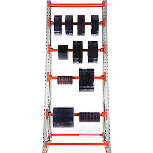 RACK REEL STORAGE 122.9X51.25X36 4 AXLES