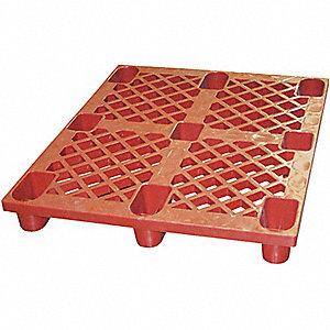 SKID PLASTIC RED 48 W X 40 L