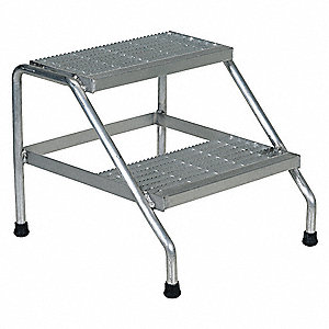 STAND STEP ALUMINUM 2 STEP WELDED