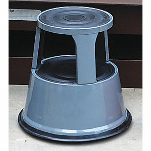 STOOL STEP ROLLING GRAY