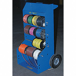CADDY REEL WIRE W/CASTERS + HANDLE