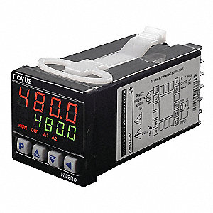 Temperature Controller, 1/16 DIN Size, 100 to 240VAC Input Voltage, Switch Function: SPST