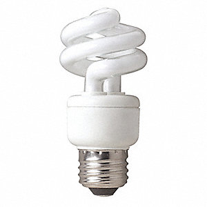9.0 Watts Screw-In CFL, T3, Medium Screw (E26), 550 Lumens, 2700K Bulb Color Temp.