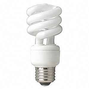 14.0 Watts Screw-In CFL, T3, Medium Screw (E26), 900 Lumens, 4100K Bulb Color Temp.