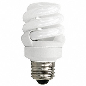 14.0 Watts  Screw-In CFL, T3, Medium Screw (E26), 800 Lumens 4100K Bulb Color Temp.
