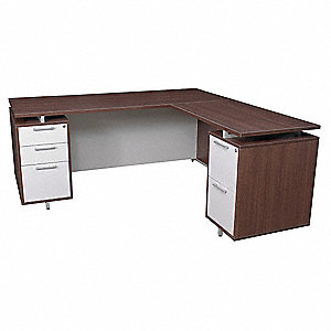 Regency 66 X 30 Onedesk Series L Shape Office Desk Java Gray 12t375 Onp6630jv Grainger
