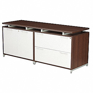 "71"" x 24"" x 30"" OneDesk Series Credenza, Java/Gray"