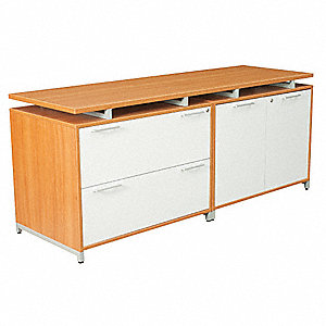 "71"" x 24"" x 30"" OneDesk Series Credenza, Amber/Gray"