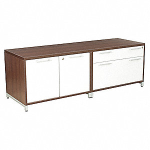 "60"" x 20"" x 20"" OneDesk Series Low Credenza, Java/Gray"