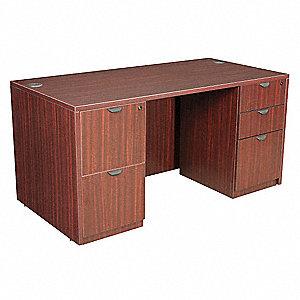 Ordinaire REGENCY Office Desk, 60 X 29 X 30 In, Mahogany   12T460 LDPF6030MH    Grainger