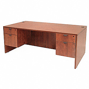 Office Desk,60 x 29 x 30 In,Cherry