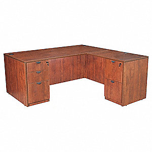 "66"" x 65"" x 29"" Legacy Series L-Shape Desk, Cherry"