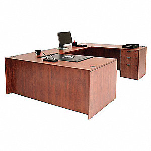"Legacy U-Shape Desk, Overall Height 29"", Overall Width 66"", Overall Depth 89"""