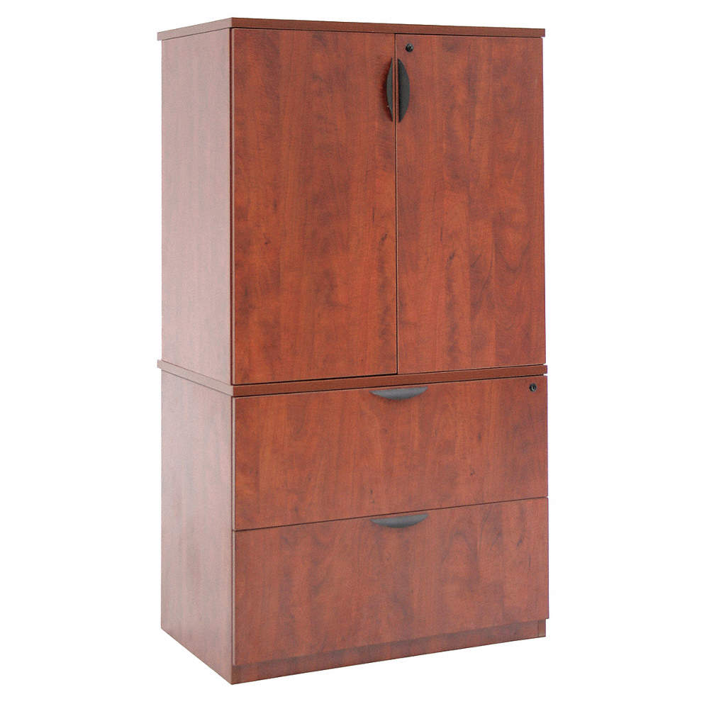 """45"""" x 45"""" x 45"""" Legacy Series Storage Cabinet w/ Lateral File Cabinet,  Cherry"""