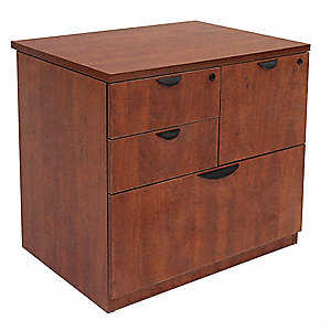 "31"" x 24"" x 29"" Legacy Series Combination File Cabinet, Cherry"