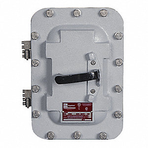 Standard 3-Pole Enclosed Circuit Breaker, 125 Amps, 600VAC, JD Frame Size