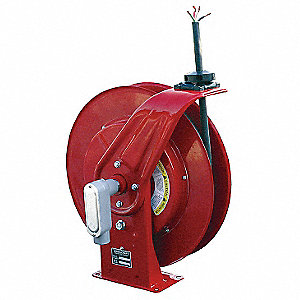 Cord Reel,50 ft,10/4,SEOOW,Red,600VAC