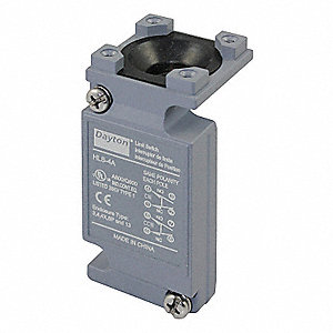 2NO/2NC Plug In Limit Switch Body, AC Contact Rating: 10A @ 600VAC