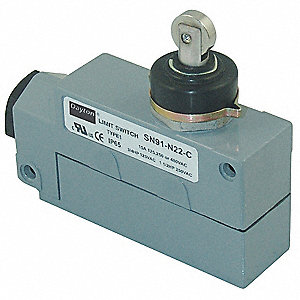 Plunger, Cross Roller General Purpose Limit Switch; Location: Top, Contact Form: SPDT, Vertical Move
