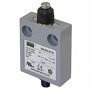 Miniature Limit Switch, 300VAC/DC Voltage Rating, 10 Amps, Top Actuator Location