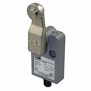 Rotary, Roller Lever General Purpose Limit Switch; Location: Side, Contact Form: SPDT, Vertical Move