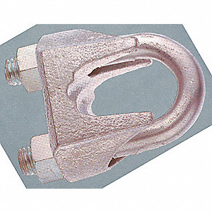 CLIP WIRE ROPE MALLEABLE 3/16IN
