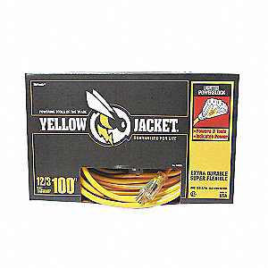 CORD 12/3 SJTW YELLOW JACKET 100FT