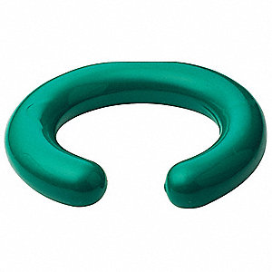 Green Coated Lead Flask Stabilizer Ring, 2.0 lb.