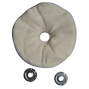 Buffing Wheel,Loose Sewn,8 In Dia.