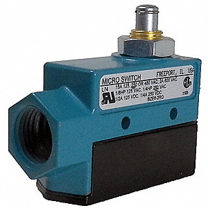 Enclosed Limit Switch, 600VAC/250VDC Voltage Rating, 15 Ind./2 Ind./0.5 Res./0.25 Res Amps