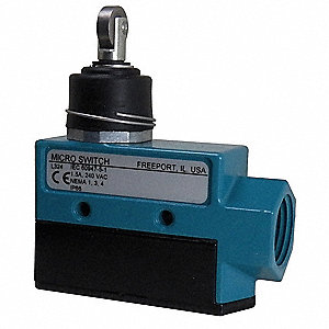 Plunger, Cross Roller General Purpose Limit Switch; Location: Top, Contact Form: 1NC/1NO, Release Fo