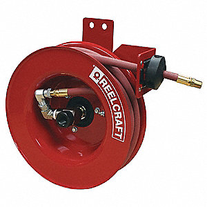 "3/8"", 25 ft. Spring Return Hose Reel, 300 psi Max. Pressure"