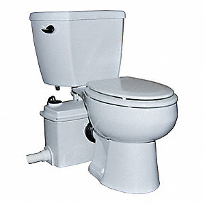 1/2 HP Macerating Toilet System, 115 Voltage, Basin Capacity: 9.0 gal.