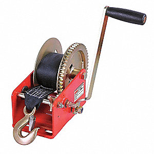 "6-1/2""H Pulling Hand Winch with 1800 lb. 1st Layer Load Capacity; Brake Included: No"