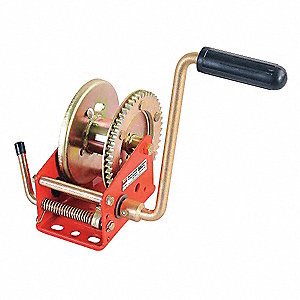 "5-3/4""H Pulling Hand Winch with 1200 lb. 1st Layer Load Capacity; Brake Included: No"