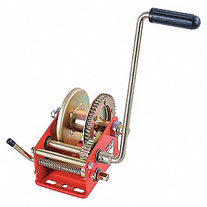 "6-1/4""H Pulling Hand Winch with 1800 lb. 1st Layer Load Capacity; Brake Included: No"