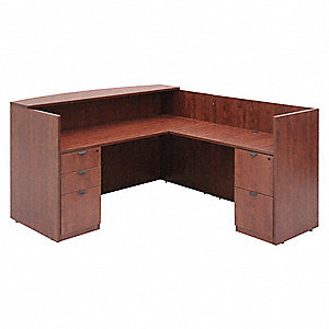 "71"" x 82"" x 42"" Legacy Series Reception Station, Cherry"