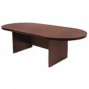 Conference Table,35 In x 6 ft.,Mahogany