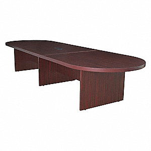 Conference Table,52 In x 12 ft,Mahogany