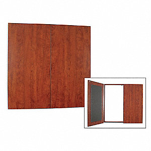 "Conference Room Dry Erase Cabinet, Cherry, Width 47"", Height 47"", Depth 5"""